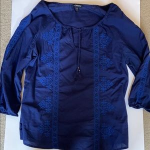 Express Peasant Navy Shirt Size S